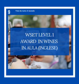 WSET Level 1 Award in Wines Inglese