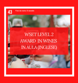 WSET Level 2 Award in Wines Inglese