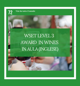 WSET Level 3 Award in Wines Inglese